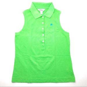 Lilly Pulitzer Green Sleeveless Summer Top Size SM